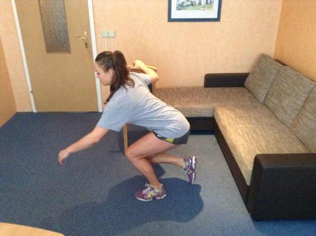 hip flexor stretch stairs